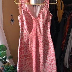 Moschino pink leopard pattern dress size 8